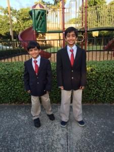 Dalal boys first dress uniform day at Regis